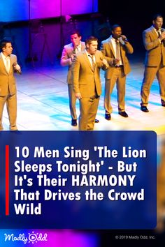 Acapella Men Sing 'The Lion Sleeps Tonight' # straightnochaser Country Music Videos, Country Music Singers, Gospel Music, Music Songs, Got Talent Videos, The Lion Sleeps Tonight, Pentatonix, Pop Music, Live Music