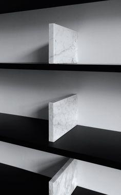 Dieter Vander Velpen for Il Granito | Marble Bookcase (detail)