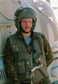 Hind pilot - Soviet/Afghan war