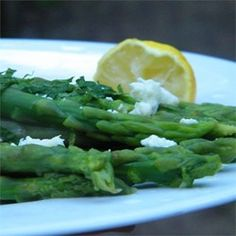 "Minted Lemon Asparagus | ""Wonderful! I was eating it off of the serving dish with my fingers!"""