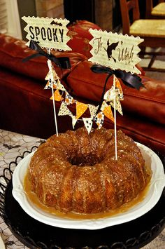 Caramel Apple Bundt Cake with Pecans