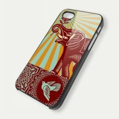Obey Elephant Bird Photo iPhone 5 Case iPhone 4 Case iPhone 4s Case iPhone 4 Cover Hard iPhone 4 Case iPhone Case And Samsung Galaxy Case – Sopive