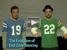 Evolution of end zone dancing with Jimmy Fallon and Justin Timberlake (video)