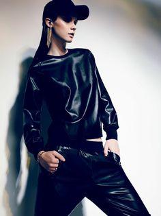 Ultimate leather sweatsuit. #fall2013 #BCBGMAXAZRIA