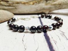 Personalized Garnet Bracelet ~ Calming Bracelet, Handmade Gift For Sisters ~ January Birthstone ~ Yoga Energy Bracelet, Good Vibes Only by blueworldtreasures. Explore more products on http://blueworldtreasures.etsy.com