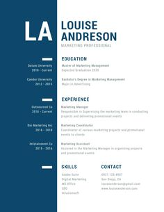 Replace that outdated resume with one of our corporate templates. Display impressive accomplishments on professional templates you can personalize. Resume Design Template, Graphic Design Software, Resume Templates, Ui Design, Marketing Professional, Professional Resume, Co Marketing, Promotional Events, Lettering Design