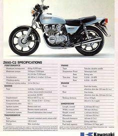 Classic stock Kawasaki z650 c2 custom advertising
