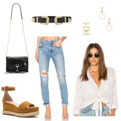 REVOLVE outfit set ft. distressed jeans