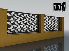 PLOTY GEOMETRY – Ploty-Brány-Zábradlia-Doplnky Garden Screening, Gate Design, Iron Gates, Balconies, Beautiful, Fences, Laser Cutting, Cnc, Home Decor