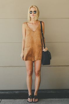 The (faux) Suede Romper | @andwhatelse