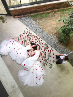 Brides and roses // Behind-the-scenes look at our styled shoot in Kuala Lumpur, Malaysia {Instagram: theweddingscoop}