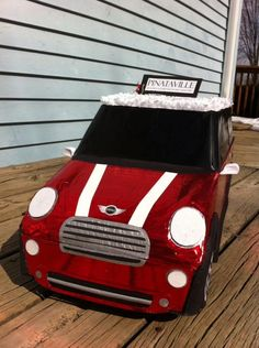 Mini Cooper Car Pinata by PinataVille on Etsy https://www.etsy.com/listing/113985406/mini-cooper-car-pinata