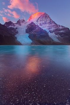 Mount Robson-Berg Lake Sunrise by Kevin McNeal