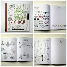 20 ways to draw a chair by Lisa Solomon at Wise Craft Handmade