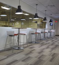 Employees require spaces to meet, eat and socialize. KI's Apply cafe stools and Athens tables are perfect for cafes, break rooms or lounge areas.