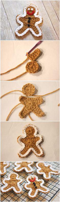 Crocheted Gingerbread Man Cookie Pattern