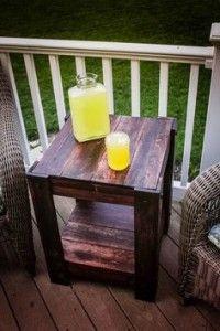 DIY Outdoor Pallet Side Table :: Devine Paint Center Blog