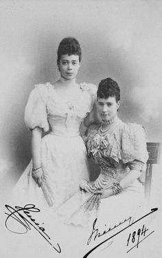 Tsarina Marie of Russia with her daughter Xenia