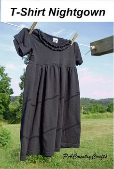 PACountryCrafts: T-Shirt Nightgown Tutorial