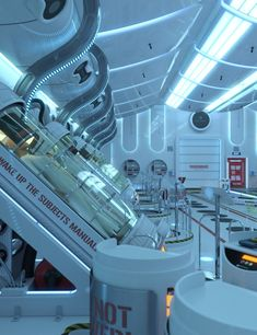 Hibernation Chamber is the first pack of a huge project what will include several sci-fi scenes.It contains a high quality environment and various props like adjustable hibernation pods, laser scanner to create visually attractive ima Spaceship Interior, Futuristic Interior, Spaceship Art, Arte Sci Fi, Sci Fi Art, Underground Bunker, Futuristic Technology, Technology Gadgets, Environment Concept Art