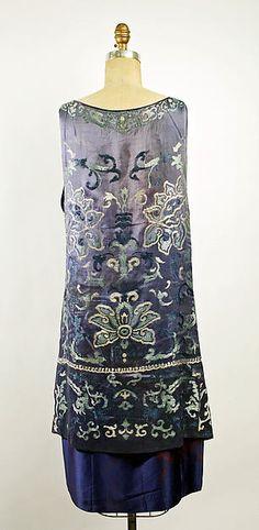 Evening dress, Callot Soeurs, French, silk, 1926