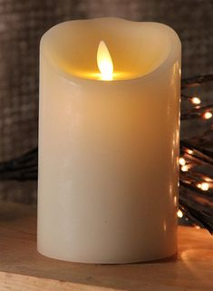 Ivory 5 Inch Luminara Flameless Candles with Timer Feature