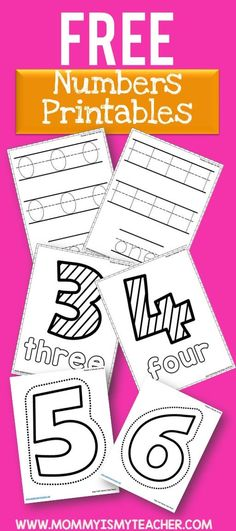 Wow, look at all these free math printables! These will be great for my homeschool preschool. Saving this for later!
