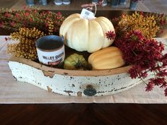 Fall centerpiece at The Faded Farmhouse!