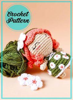 Doll Amigurumi Free Pattern, Amigurumi Toys, Half Double Crochet, Single Crochet, Elf Doll, Dolls, Bobble Stitch, Stitch Markers, Embroidery Thread