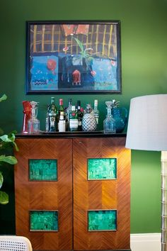 Bar in the small but characterful London flat of Luke Edward Hall and Duncan Campbell on HOUSE - design, food and travel by House & Garden