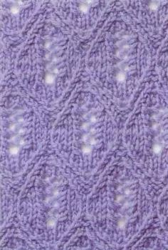 lace knitting stitch pattern 1