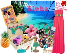 """""""My Summer Adventure to Hawaii"""" by charli748 ❤ liked on Polyvore"""
