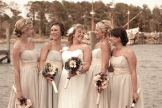This bride had a blast with her bridesmaids! Photography by 11th Hour Events http://www.outerbanksweddingassoc.org/membersearch/memberpage.html?MID=2033=Coordinators+%26amp%3B+Planners=10