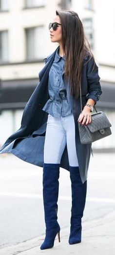 Shades Of Blue City Chic Outfit by Wendy's Lookbook