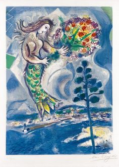 art Marc Chagall, Chagall Prints, Chagall Paintings, Folklore Russe, Pablo Picasso, French Artists, Fine Art Gallery, Oeuvre D'art, Art Forms