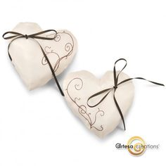 Coussin d'alliances Duo Coeurs Chocolat http://www.artesa-creations.com/product.php?id_product=1466