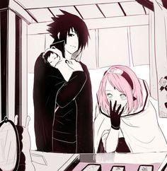 Sasuke e Sakura (SasuSaku) Naruto Kakashi, Anime Naruto, Tenten Y Neji, Sasuke Uchiha Sakura Haruno, Naruto Comic, Naruto Cute, Naruto Shippuden Anime, Naruhina, Narusaku