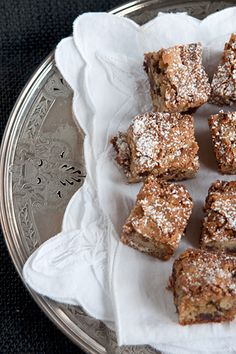 Chinese Chews - a very old recipe for a traditionally southern Christmas bar cookie treat featuring nuts and dates. Add these to your Christmas baking list! Cake Bars, Dessert Bars, Chinese Chews Recipe, Christmas Treats, Christmas Baking, Christmas Cookies, Cookie Recipes, Dessert Recipes, Muffins