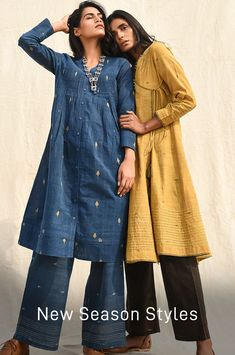 Jaypore is about bringing the world a little closer together. Indian Attire, Indian Wear, Indian Outfits, Oriental Fashion, Asian Fashion, Simple Kurta Designs, Fasion, Fashion Outfits, Women's Fashion
