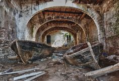 """Tonnara del Secco is an old tuna trap (tonnara) not far from San Vito Lo Capo, in Sicily. Tuna fish used to naturally aggregate here every Spring, """"unaware of the dangerous human skills employed to fish them in this ingenious building"""""""