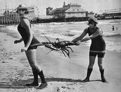 Sunbathing fun, 1915