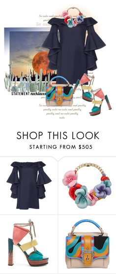"""""""07-18"""" by saponacsve ❤ liked on Polyvore featuring Seed Design, Alexis, Elie Saab, Jimmy Choo, Paula Cademartori and statementnecklaces"""