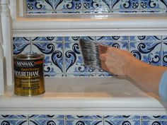 How to Make Over a Staircase Using Paint and Wallpaper : Home Improvement : DIY Network