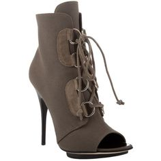 Giuseppe Zanotti Green Canvas Lace-up Ankle Boots ❤ liked on Polyvore featuring shoes, boots, ankle booties, lace up bootie, ankle boots, laced boots, short lace up boots and green booties