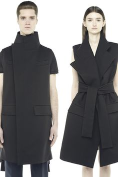 VE904BKC : UNISEX TRENCH BELTED VEST http://www.radhourani.com/collections/outerwear/products/ve904bkc-unisex-trench-belted-vest#.VN9ZIMY3cnU