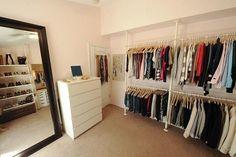 closet, Ikea, stolmen, closet, dressing room