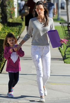 Alessandra Ambrosio wearing Soludos Canvas Espadrille Sneakers J Brand Super Skinny Jeans in Ghost Rose