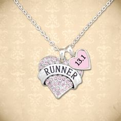 Runner Necklace, 9.98 // Perfect for cross country runners and everyday runners alike. Personalized distance!