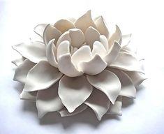 Porcelain Lotus Flower   Handcrafted Ceramic Art