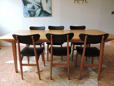 table danoise et chaises su doises type tapiovaara c te et vintage pinterest tables. Black Bedroom Furniture Sets. Home Design Ideas